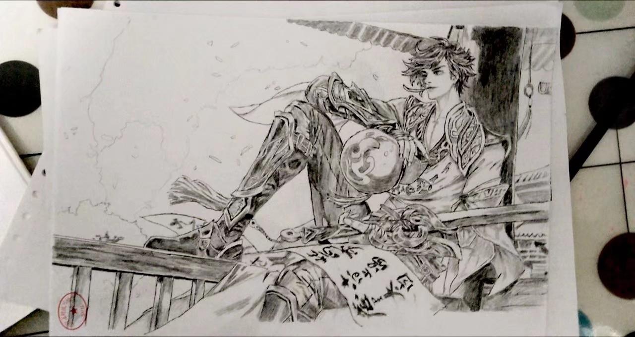 【手绘】我画的青莲剑仙