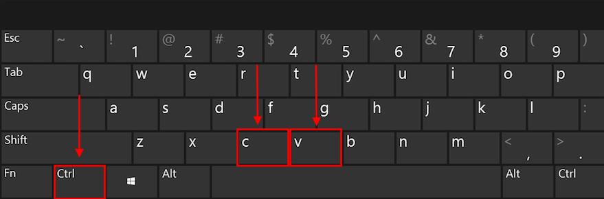 教你如何使用电脑复制粘贴快捷键