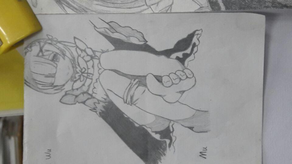 【手绘】雷姆,邪恶漫画acg