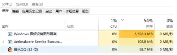 Windows音频设备图形占用大量的CPU和内存