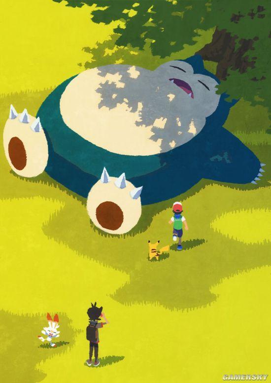 【动漫资讯】精灵宝可梦新动画概念艺术图 卡比兽极巨化亮相