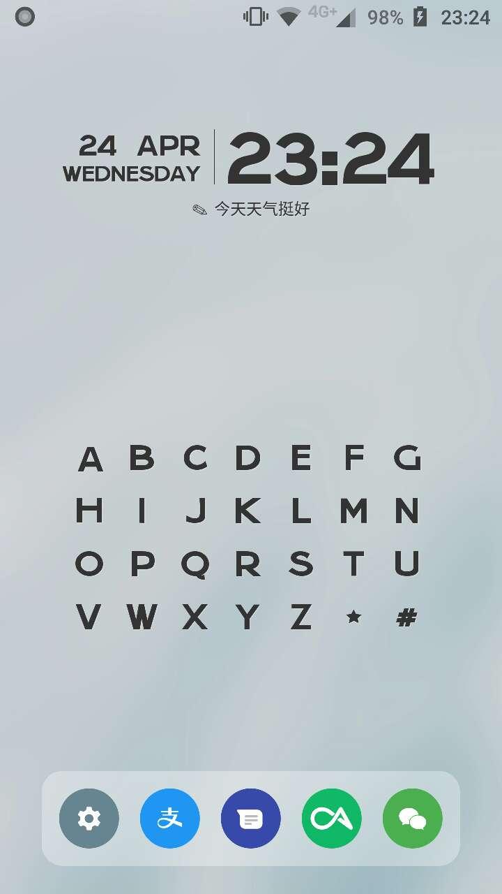 【分享】$&字母索引桌面 - 便捷的软件启动方式