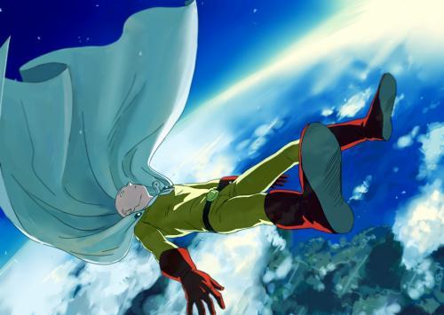 【动漫资源】《一拳超人》,二次元蓝白条纹长筒袜