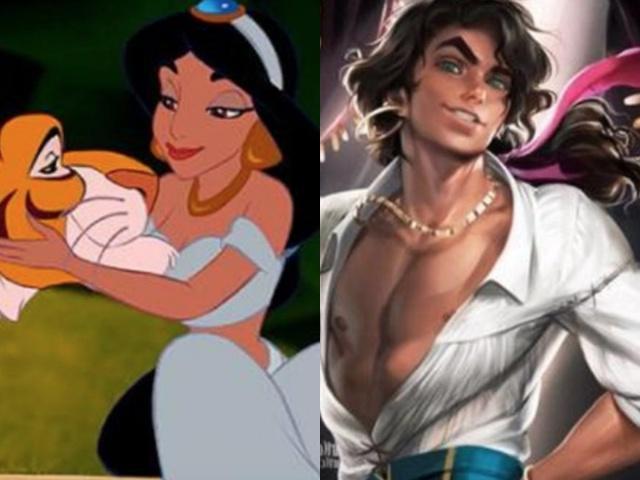 """【盘点】当迪士尼公主""""变性""""成帅哥,艾莎太邪魅,最后一个辣眼睛!"""